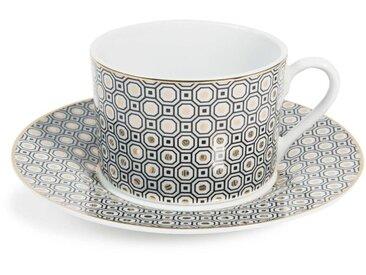 Tasses et soucoupes à thé en porcelaine or KATE