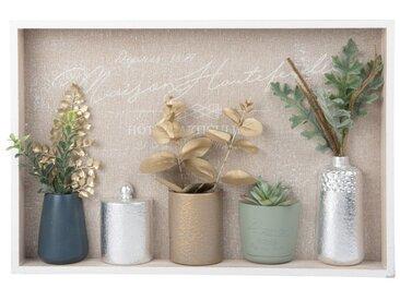 Tableau vases et feuilles 45x30