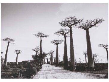 Toile imprimé paysage noir et blanc 92x130