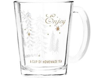Mug en verre imprimé forêt