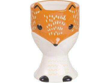 Coquetier renard en faïence