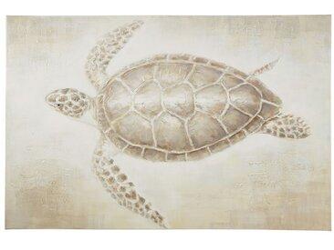 Toile peinte tortue 120x80