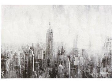 Toile peinte New York grise 120x80