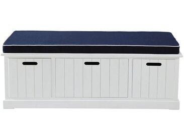 Banc de rangement blanc L 130 cm Princeton