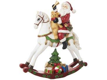 Déco de Noël cheval à bascule et Père Noël