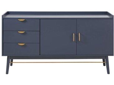 Buffet 2 portes 3 tiroirs bleu foncé Penelope