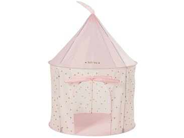 Tente de jeux château rose pastel