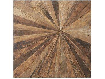 Déco murale en bois recyclé 100x100