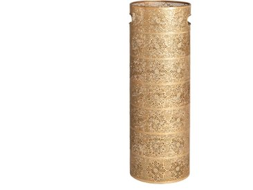 Porte-parapluie en métal ciselé doré mat
