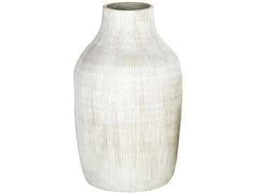 Vase en céramique striée beige H52