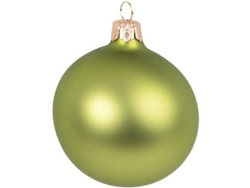 Boule de Noël en verre mat vert pistache