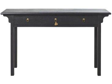 Console 3 tiroirs en pin massif noir Liya