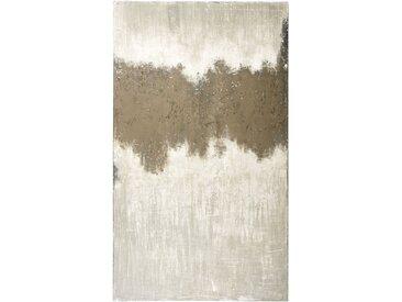 Toile peinte brun grisé et beige 150x250