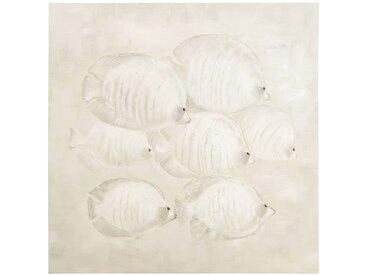 Toile peinte poisson 100x100