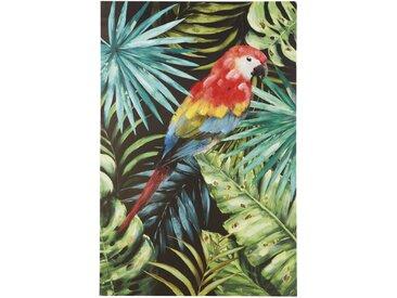 Toile peinte perroquet 93x140