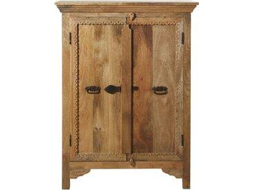 Cabinet de rangement 2 portes en manguier massif Kohima