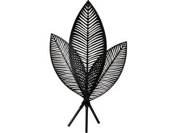Déco murale feuilles de palmier en métal noir 44x75