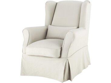 Housse de fauteuil en coton mastic Cottage
