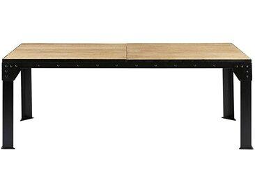 Table à manger extensible 8 à 12 personnes en manguier et métal L200/280 Factory