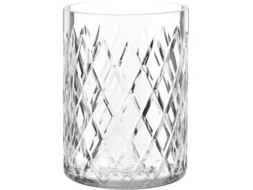 Photophore en verre sculpté H16
