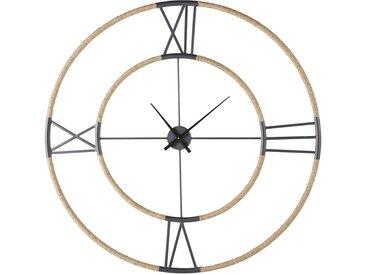 Horloge en métal noir effet vieilli et corde D103