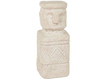 Statuette en ciment beige sculpté H20
