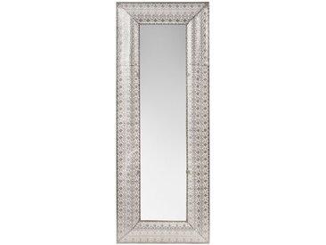 Miroir en métal argenté 50x130