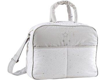 Sac à langer en coton gris et blanc motifs étoiles