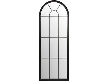 Miroir fenêtre en métal noir 72x184
