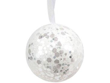 Boule de Noël blanche à paillettes