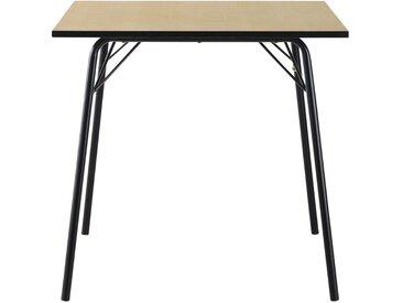 Table à manger carrée 2/4 personnes L80 Blackout