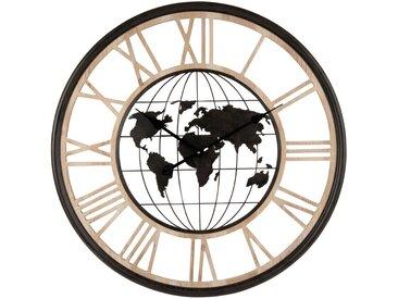 Horloge globe terrestre bicolore D70
