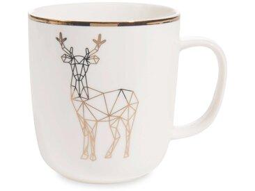 Mug motif cerf en porcelaine