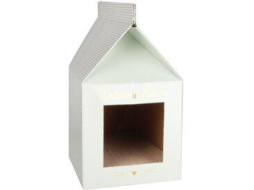 Maison griffoir pour chat en carton à motifs