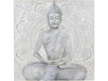 Toile peinte grise statue 120x120