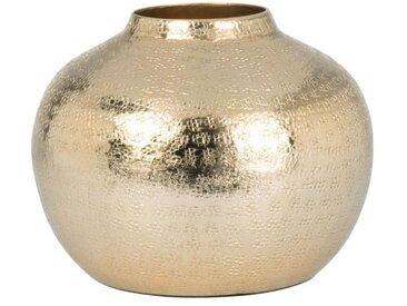 Vase boule en métal doré H15