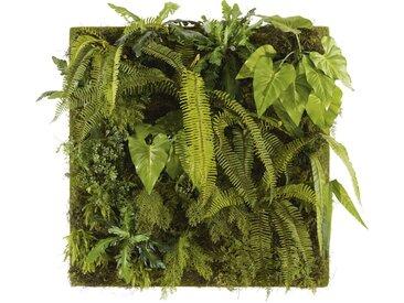 Tableau végétal plantes artificielles 100x100