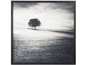 Tableau imprimé paysage noir et blanc 100x100