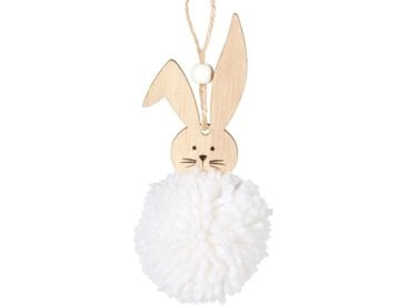Suspension lapin blanc en peuplier