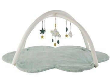 Tapis d'éveil bébé nuage vert D90