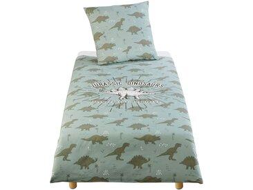 Parure de lit enfant en coton vert kaki imprimé 140X200