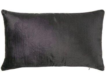 Housse de coussin violette motif floral brodé 50x30