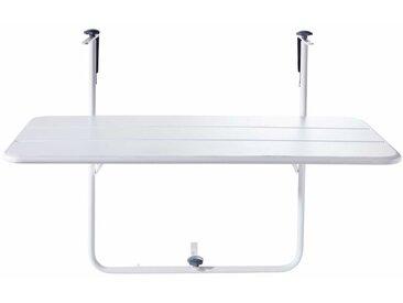 Table de balcon rabattable en métal blanc L88 Batignolles