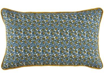 Coussin d'extérieur en coton motif floral 30x50