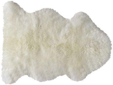 Tapis en peau de mouton ivoire 55 x 90 cm