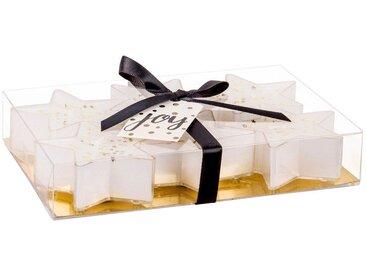 Coffret 6 bougies de Noël étoiles blanches