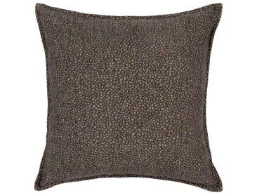 Housse de coussin en coton gris 40x40