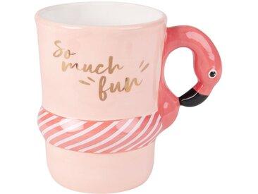 Mug en faïence bouée flamant rose