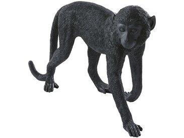 Statue singe noire L67