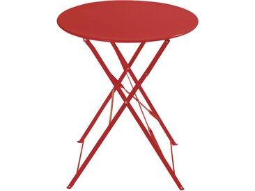 Table de jardin pliante en métal rouge 2 personnes D58 Guinguette